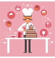 Confectionery And Pastry Concept Background vector image vector image