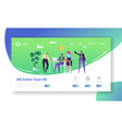 creative idea office character landing page vector image vector image