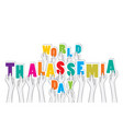 creative world thalassemia day poster design vector image vector image