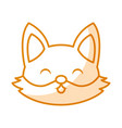 cute shadow fox face cartoon vector image vector image