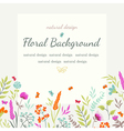 Cute summer card with colored flowers and herbs vector image