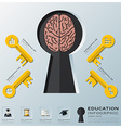 Education And Learning Key Shape Infographic vector image vector image
