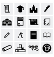 Education icon set vector image vector image