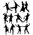 Elderly people dancing vector image vector image