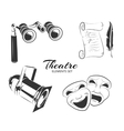 elements for theatre labels or emblems vector image vector image
