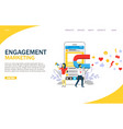 engagement marketing website landing page vector image vector image