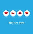 flat icon lips set of smile teeth kiss and other vector image vector image