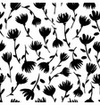 floral seamless pattern with daisies vector image