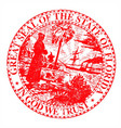 florids state seal vector image vector image