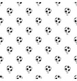 football ball pattern seamless vector image vector image