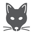 fox glyph icon animal and zoo vector image vector image