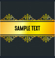 golden stripe with black background vector image vector image