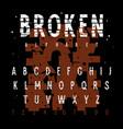 grunge alphabet 012 vector image