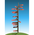 guidepost vector image vector image
