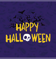 halloween party banner with skull bats and vector image