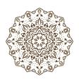 Hand drawn henna tattoo mandala lace vector image vector image