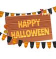 happy halloween poster jack lanterns gourn vector image