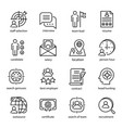 head hunting icon set employment and recruitment vector image vector image