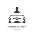 hierarchical order outline icon isolated line vector image vector image