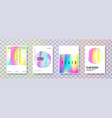 holographic cover set abstract backgrounds vector image vector image