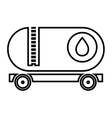 isolated cargo oil truck graphic vector image