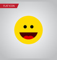 isolated grin flat icon laugh element can vector image vector image