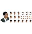 isometric create emotions african american man vector image