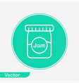 jam jar icon sign symbol vector image