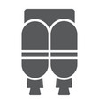 jetpack glyph icon astronomy and technology vector image vector image