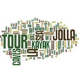 la jolla sea caves tour text background word vector image vector image