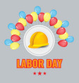 labour day background with balloons and vector image