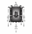 Lantern Chinese vector image