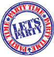 Lets Party stamp vector image