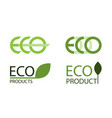 logo set of eco labels vector image vector image