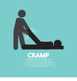 Man Help The Athlete From Cramp vector image vector image