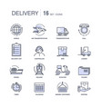 modern fast delivery services monochrome icons set vector image