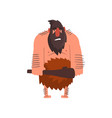 muscular primitive caveman with club stone age vector image vector image