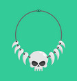 necklace of skulls and tusks ethnic decoration vector image vector image