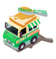 peanut butter machine icon isometric style vector image