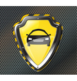 protection shield vector image vector image