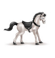 realistic horse toy doll with black saddle vector image vector image