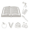 school and education outline icons in set vector image