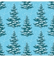 Seamless background Christmas trees with snow vector image