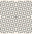 seamless pattern with concentric wavy lines vector image vector image