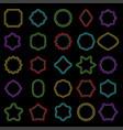 set of color outline badge shape vector image vector image