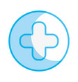 silhouette cross clinic symbol to healthcare vector image