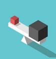 small big cubes balance vector image vector image