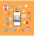 social media icons symbols 2 vector image