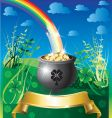 st patricks day rainbow vector image vector image