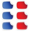 sticker blue and red vector image vector image